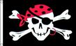 5ft x 3ft Pirate Ship 100D Jolly Roger Skull & Crossbones One Eyed Jack Flag
